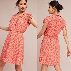 Anthropologie Maeve ruched shirt dress w pockets